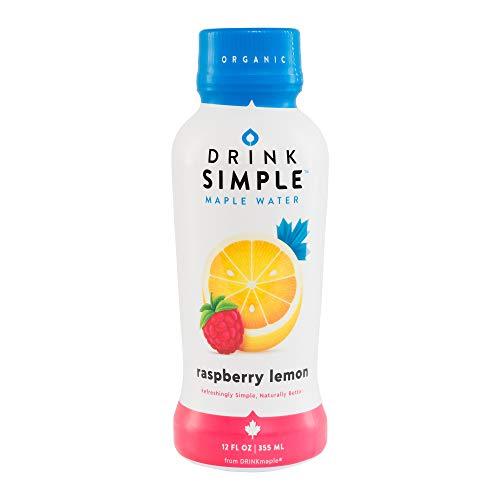 Drink Simple Raspberry Lemon Maple Water - Organic, Non-GMO, Gluten Free, Vegan Natural Hydration - Low Sugar Coconut Water Alternative - 12 Fluid Ounce (Pack of 12)