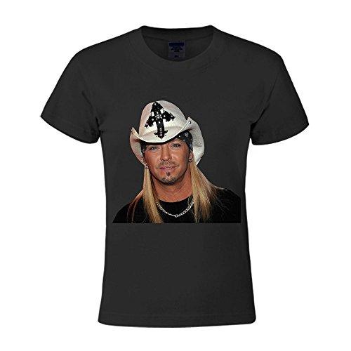 XPing I am Bret Michaels Cotton Fashion T Shirt for Womens Black