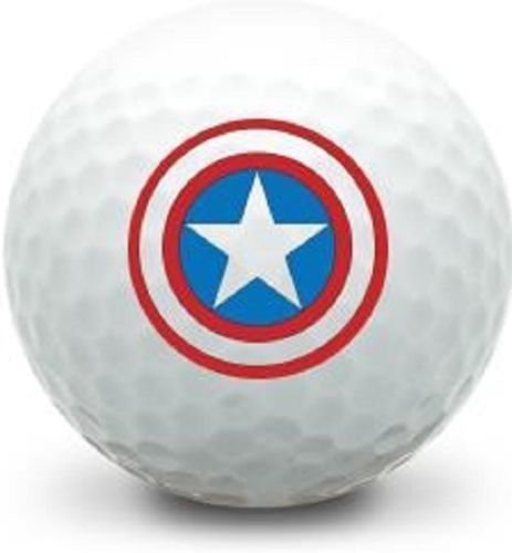 America Golf Balls (3 Dozen (Captain America LOGO) Titleist Pro V1 2016 Mint / AAAAA Golf Balls #1 Ball in Golf)