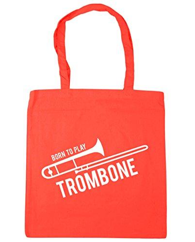 10 Bag Shopping Beach x38cm to HippoWarehouse Gym Coral litres Play 42cm Born Tote Trombone RZ8qwP4