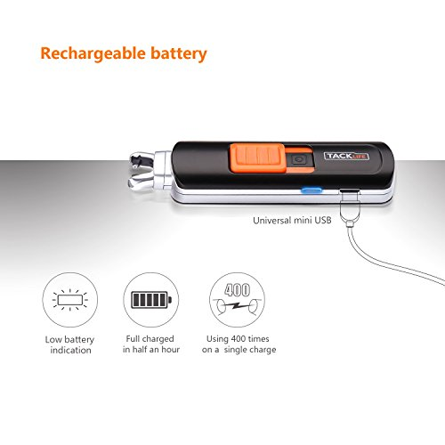 Lighter, Tacklife ELY03 Electric Arc Lighter, USB Rechargeable Electric Lighter with Li-Ion Battery 300 Times Spark for Per Charge, Windproof Pocket & Candle Lighter for Indoor and Outdoor by TACKLIFE (Image #2)