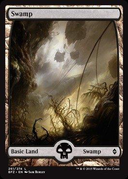Swamp Foil (Magic: the Gathering - Swamp (261) (261/274) - Battle for Zendikar - Foil)