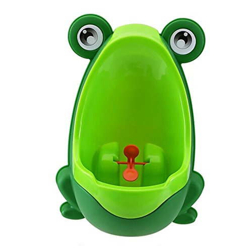 Potty Urinal, Boy Potty Toilet with Cute Frog, Training Kids Pee Bathroom with Funny Whirling Aiming Target Baby Trainer, Made by FAVOLOOK