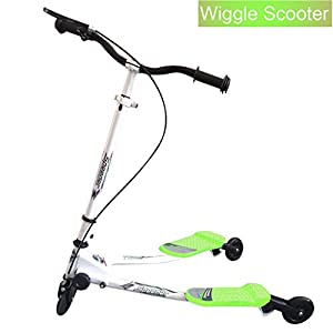 Wiggle Scooter for Kids, Mini 3 Wheel Swing Tri Push Scooter Swing Motion Trike Slider Striker Drifter for Age 5+ (US STOCK)