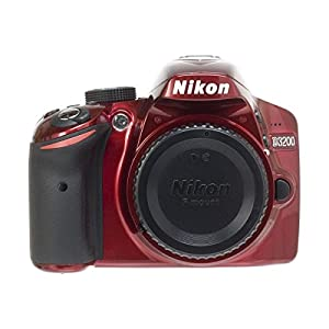 Nikon D3200 24.2 MP CMOS Digital SLR Camera Body Only - Red (Certified Refurbished)