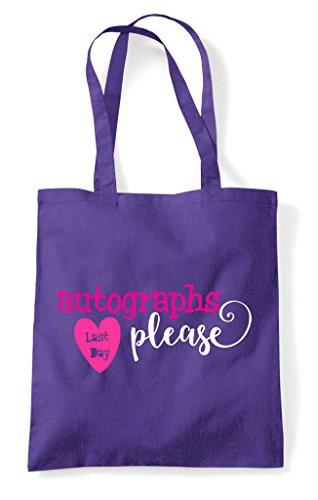 Bag Shopper Autographs Tote Purple Day Please Last w65IxXqW