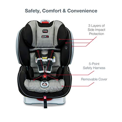 41uNcr35gAL - Britax Advocate ClickTight Convertible Car Seat | 3 Layer Impact Protection - Rear & Forward Facing - 5 To 65 Pounds, Venti