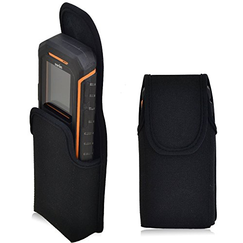 Turtleback Belt Clip Case made for Sonim XP 3405 SHIELD Black Vertical Holster Nylon Pouch with Heavy Duty Rotating Belt Clip Made in USA