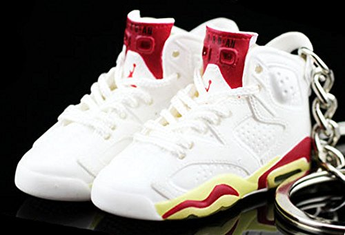 Air jordan VI 6 Retro Maroon Off White Sneakers Shoes 3D Keychain Figure - Buy  Online in UAE.  a3c4abe48