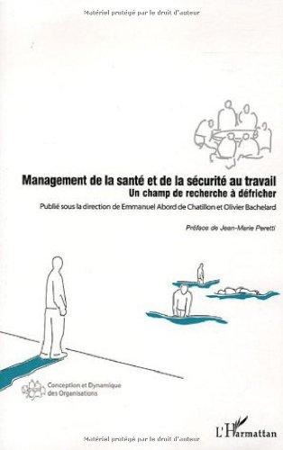 management de la sante et de la securite au travail