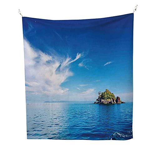 Islandoutdoor tapestrySmall Island in Trat Archipelago 70W x 84L inch Ceiling tapestryThailand Reef Rock Diving Trip Sunny Day Landscape