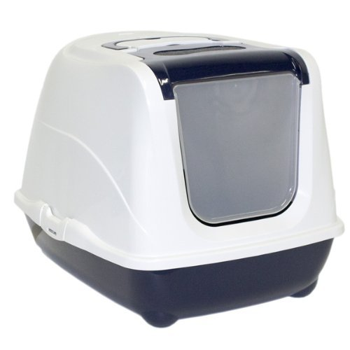 Moderna Flip Top Blue Enclosed Cat Litter Box by Moderna