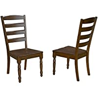 A-America ROAMO255K Roanoke Dining-Molasses Ladderback Chair, 2 Pack