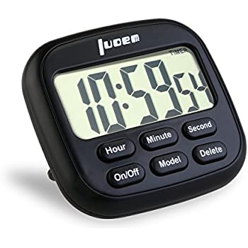 LUOEM Digital Kitchen Timer 24 Hours Magnetic Clock Timer With Loud Alarm  And Larger Screen