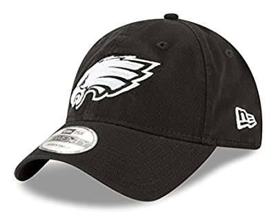 Philadelphia Eagles New Era NFL 9Twenty Core Classic Twill Adjustable Black Hat by New Era