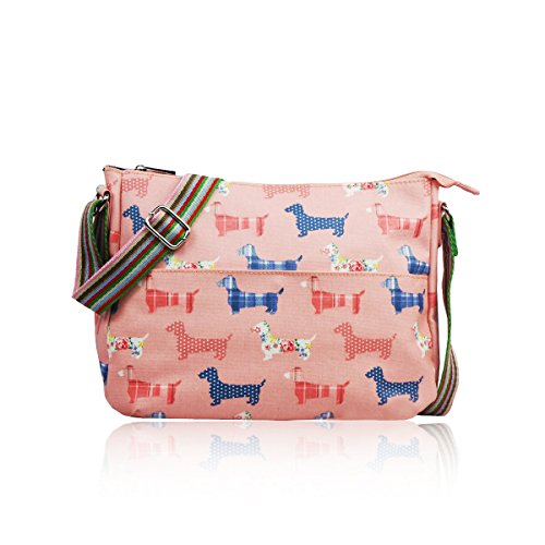 Matte Pink SALE Bag Style Sausage Designer Dog Messenger Canvas AwHOqwa