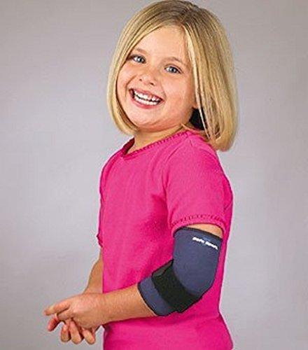 (Florida Orthopedics SAFE-T-SPORT NEOPRENE TENNIS ELBOW SLEEVE WITH LOOP LOCK - Pediatric/Large-Navy )