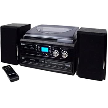 Exceptional Jensen JTA980B J3 Speed Turntable With 2 CD, AM/FM And Cassette Record