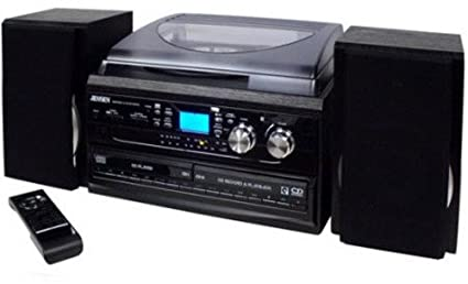 Nice Jensen JTA980B J3 Speed Turntable With 2 CD, AM/FM And Cassette Record
