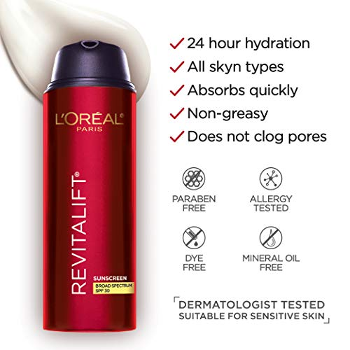 41uNeiTnbuL - L'Oreal Paris Face Moisturizer With Spf 30 By L'oréal Paris Skin Care I Revitalift Triple Power Anti-Aging Face Lotion With Spf 30 Sunscreen, Pro Retinol, Hyaluronic Acid & Vitamin C I 1.7 Oz