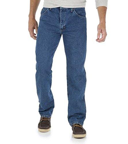 Genuine Fit Jeans Wrangler Regular (Genuine Wrangler Men's Relaxed Fit Jean (42x32, Blasted Indigo))