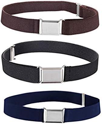 WODISON Children`s Elastic Belt for Pants Jeans Trousers Adjustable Cute waist band Multicoloured 3Packs