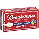 BREAKSTONES BUTTER UNSALTED ALL NATURAL 8 OZ PACK OF 3