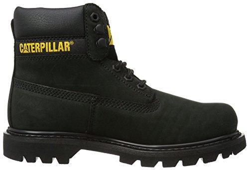 Caterpillar Colorado Noir Jaune FemmesCuir Bottes Chaussures