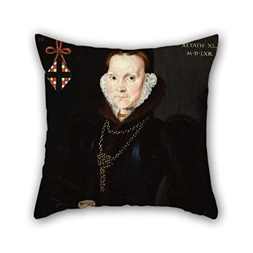 Elegancebeauty Oil Painting Hans Eworth - Portrait Of Elizabeth Roydon, Lady Golding Throw Pillow Case 20 X 20 Inches / 50 By 50 Cm For Wife,kids,car Seat,teens Boys,drawing Room,gf With Both Sides (My Devil Gf)