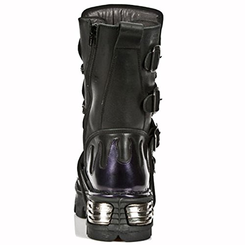 Metallic S4 Purple Leather 107 Women Ready 45 Stock M Size Men New Rock 04xqwCxp