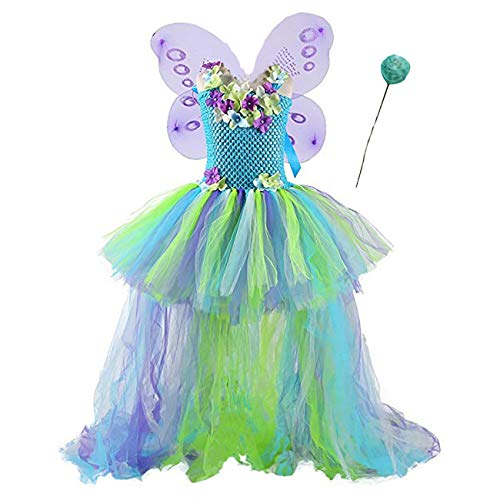 (Pageant Party Butterfly Dress Up for Girls Halloween Tutu Costume Plus)