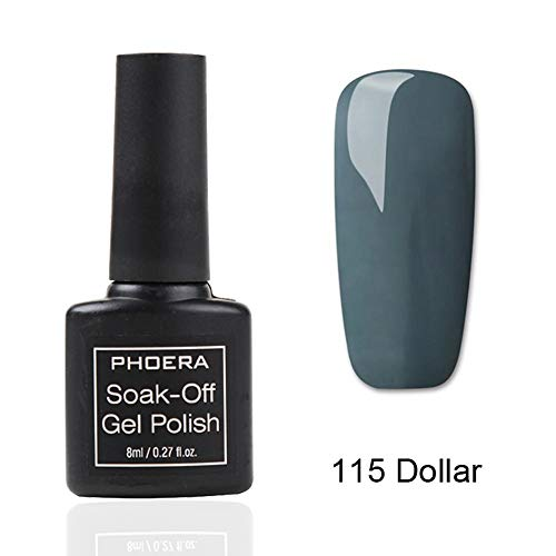 Newkelly 1PC 8ML PHOERA UV Gel Nail Polish Soak Off Candy Color Gel Varnish Manicure