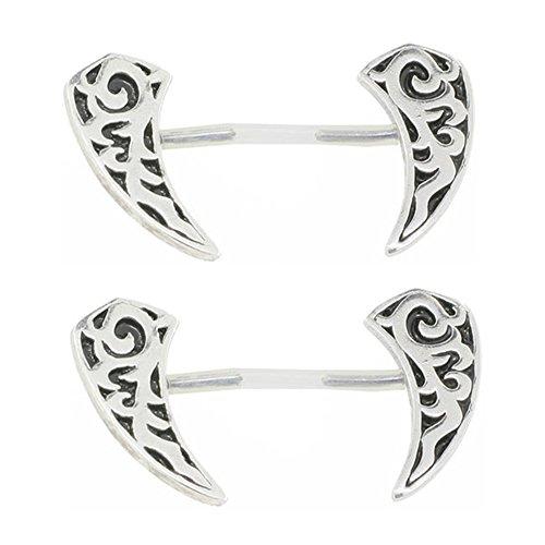 Celtic Nipple Shield - 925 Sterling Silver Celtic Shield Invisible Bioplast Nipple Ring Pair