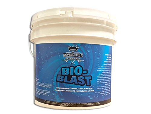 Bio-Blast – Best Natural, Non-Acidic Drain Line Cleaner – For Main Drain Lines, Sink & Floor Pipes, Sewers, Urinals & Toilets – Suitable For Home & Commercial Drain Lines