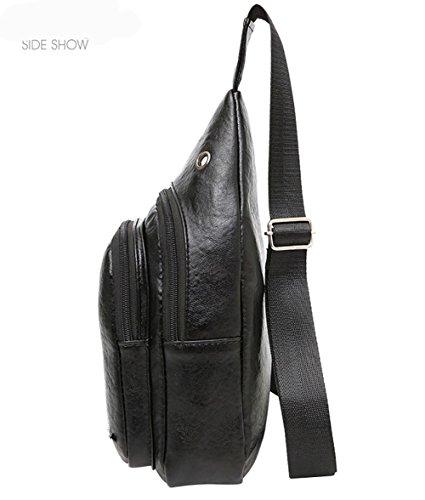 Thoracic Soft Damas de ZXJ Masculinas de Capacidad Diseño Viajar black de Bolsas Gran Auricular Cortex Compras Conveniencia Hombro Ride Bolso Agujero Compras FfqdCwq