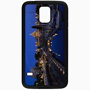 Unique Design Fashion Protective Back Cover For Samsung Galaxy S5 Case Evening Yachts Panorama Black