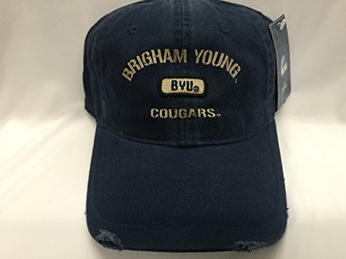 New! Brigham Young University Navy Blue Buckled Cap.