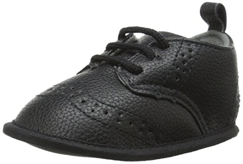 Little Me Pebbled WingTip Shoe Dress Shoe (Infant), Black, 9-12 Months M US Infant