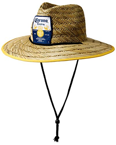 Corona Extra Crown - Corona Mens Extra Lifeguard Straw Hat, Natural, One Size