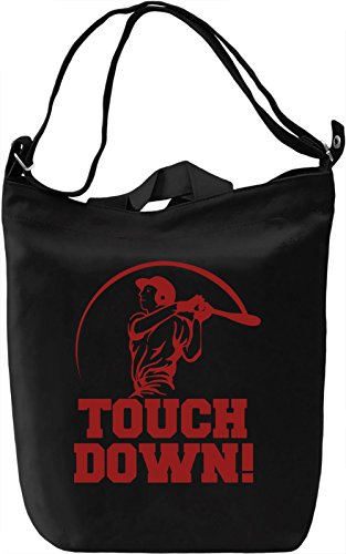 Touch Down Borsa Giornaliera Canvas Canvas Day Bag| 100% Premium Cotton Canvas| DTG Printing|