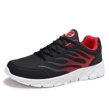 Zapatillas para hombres PU resistente al agua termal al aire libre del hombre amortiguación Lace-Up Sneakers zapatos deportivos Negro macho adulto hombres: ...