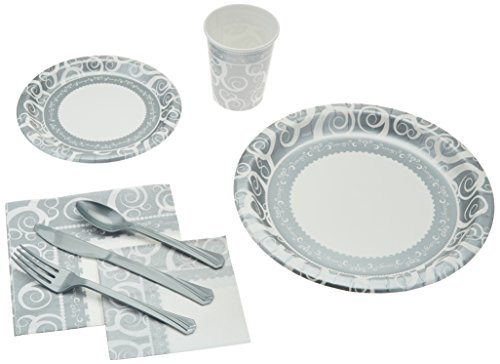 241 Piece Disposable Dinnerware Set