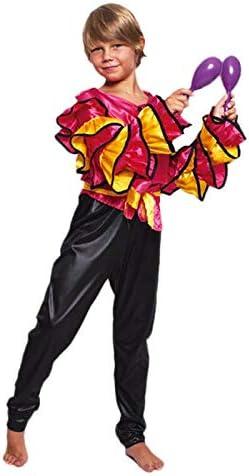 Disfraz Rumbero Fucsia Niño (10-12 años) (+ Tallas) Carnaval Mundo ...