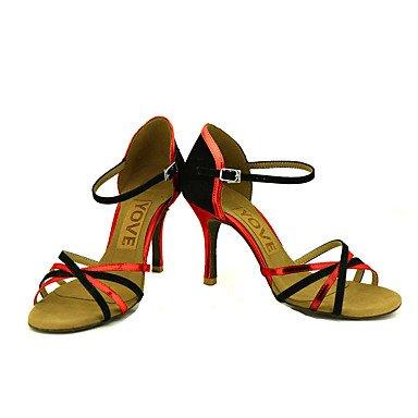 Personalizables Tacón Rojo baile Latino Zapatos Rosa Blue Plata de Personalizado Azul Salsa Oro qvR1Zz