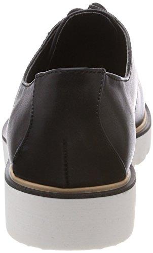 Black nero 10 da donna Derbys Up Bianco Shoe Laced q0RtAt
