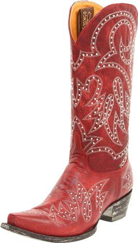 Old Gringo Women's Lauren Stud Boot,Red,6.5 B US