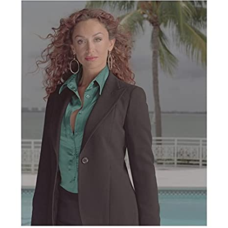 eb1b781a10ed2 CSI: Miami 8inch x 10inch Photo Sofia Milos Black Suit Teal Blouse Washed  Out Pic kn at Amazon's Entertainment Collectibles Store