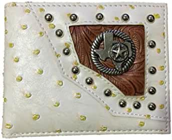 Texas West Men's Ostrich Texas State Bifold Wallets in 3 Colors. New with Fast Shipping.