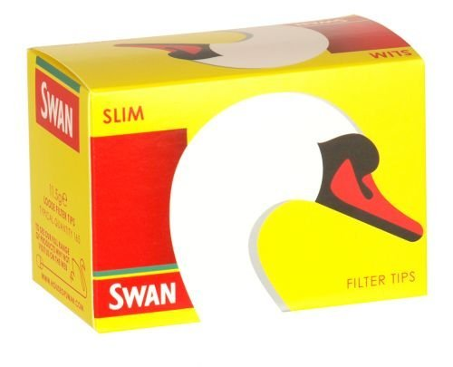 Swan Slimline Filter Tips (10 Boxes of 165ct = 1650 Tips) Britians Favorite Cigarette Tips by Swan