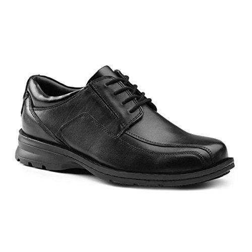 Dockers SureGrip Mens Stratford Black Run Off Lace Oxford Slip Resistant Work Shoes 7.5M